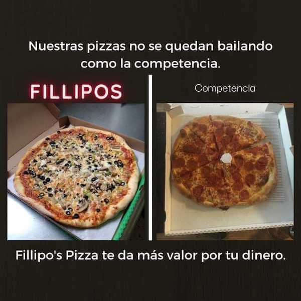 tamaño de pizzas