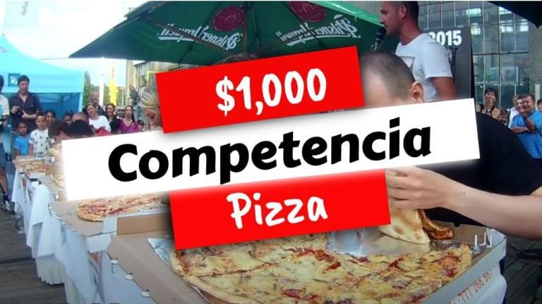 Hombre gana $1,000 por comer una pizza de 24 pulgadas en tiempo record